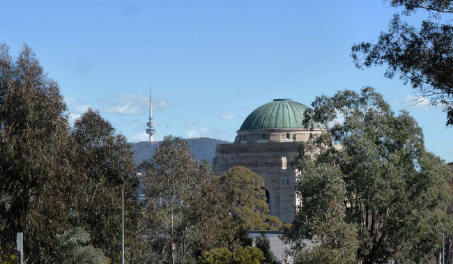 The Australian War Memorial and the Black Mountain Telstra tower