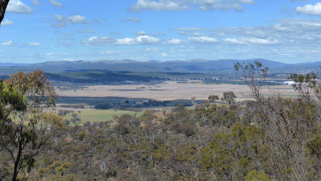 The view from Mount Majura