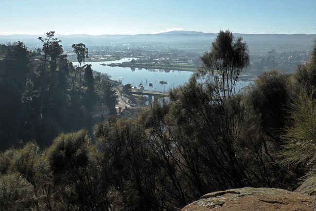 Tamar River and the Launceston CBD