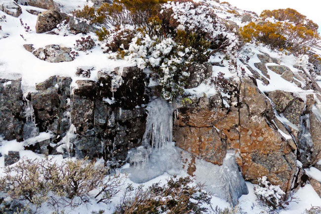 A frozen waterfall