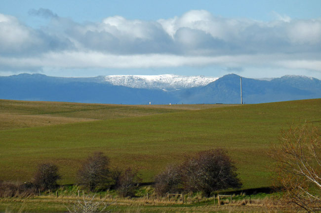 Ben Lomond alpine plateau with snow