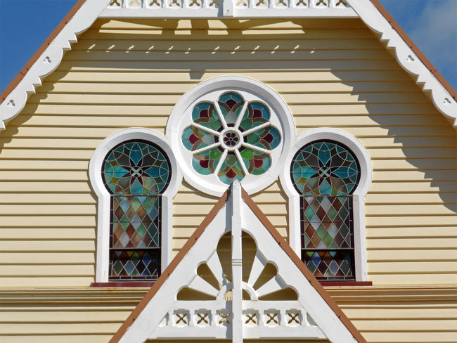 Penguin Uniting Church leadlight windows