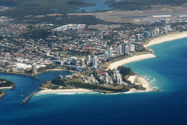 The twin towns of Tweed Heads and Coolangatta