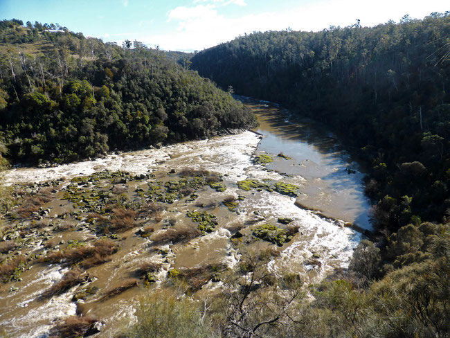 South Esk River from Deadman's Hollow lookout