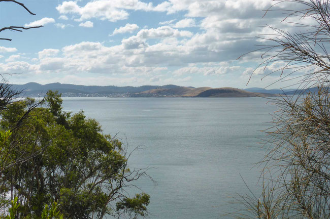 Tranmere peninsula, across the Derwent River