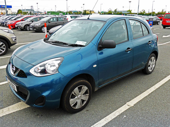 Our hire car returned at Dublin Airport
