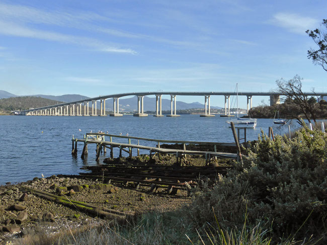 The Tasman Bridge seen from Rosny Point