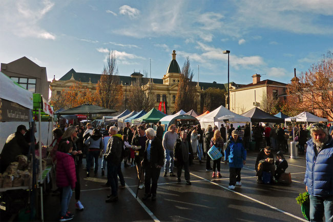 Launceston Harvest Market and the Albert Hall