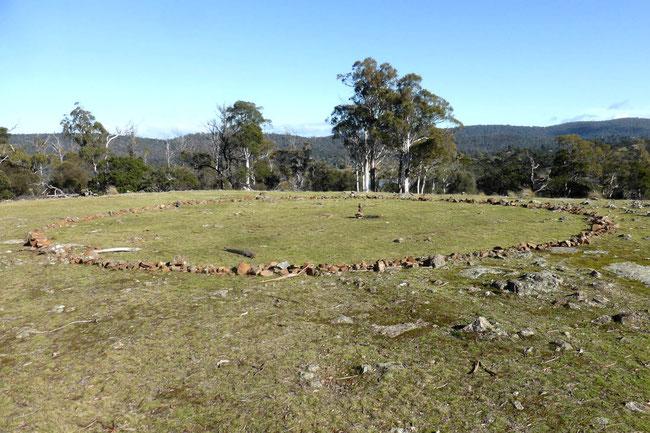Stone circle on Deadman's Knob