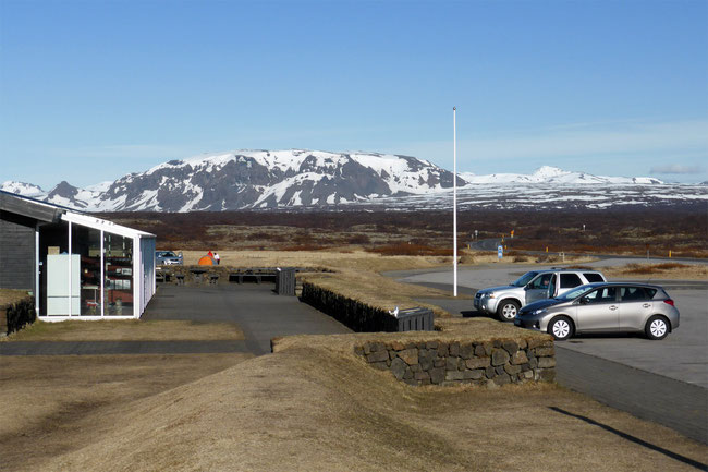 Our hire car, on the Golden Circle, Iceland