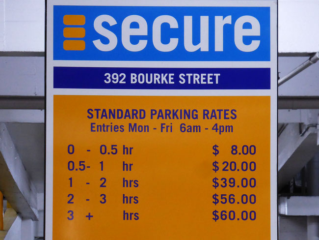 Parking costs in Melbourne CBD