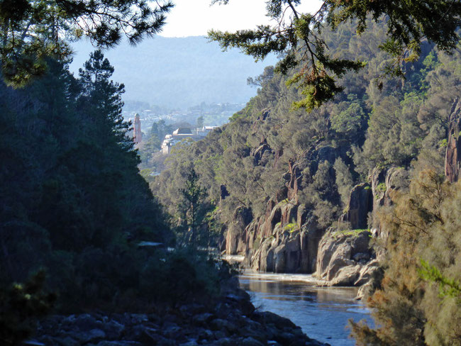View along the gorge to Launceston