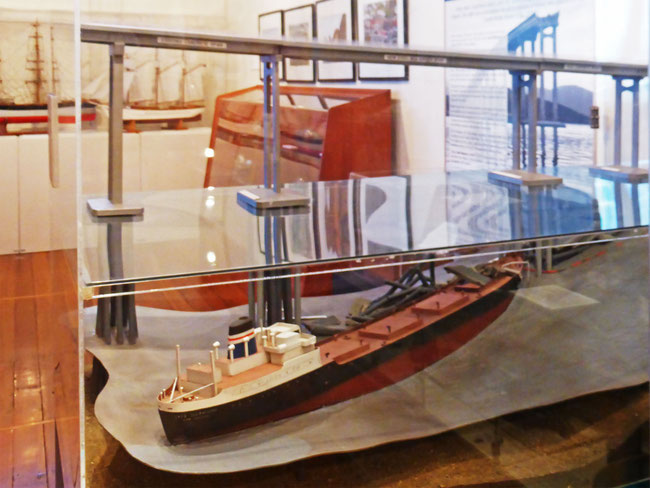 TheMV Lake Illawarra model in the Hobart Maritime Museum