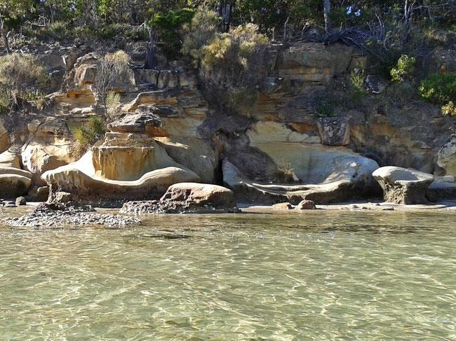 Natural sandstone sculptures