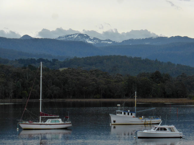 Hartz Range seen from Port Huon