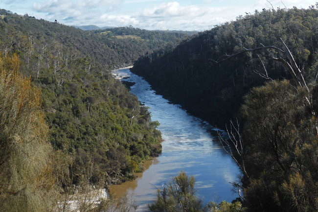 The south Esk River in the upper Cataract Gorge