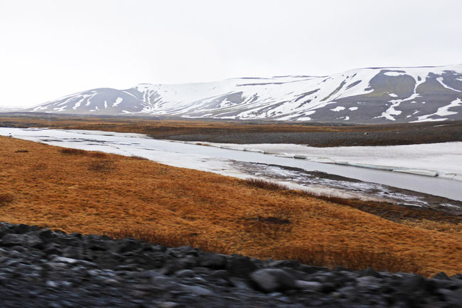 A thawing alpine stream