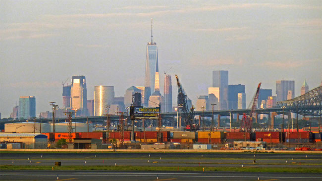 New York as seen from Newark Liberty International Airport