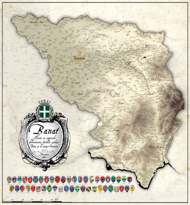 Ein Teil des Banates, als Teil der Rumänischen Republik