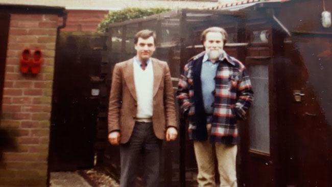 Niek Kreeftmeijer und Heinz Kaupschäfer 1988 bei einem Besuch
