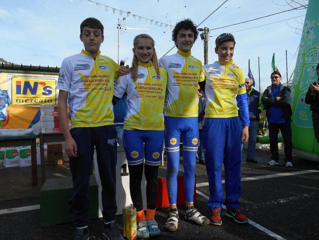 DA SX ANDREA SERDINO, FRANCESCA SACCU, FRANCESCO PISANO E GLORIA SCARSI