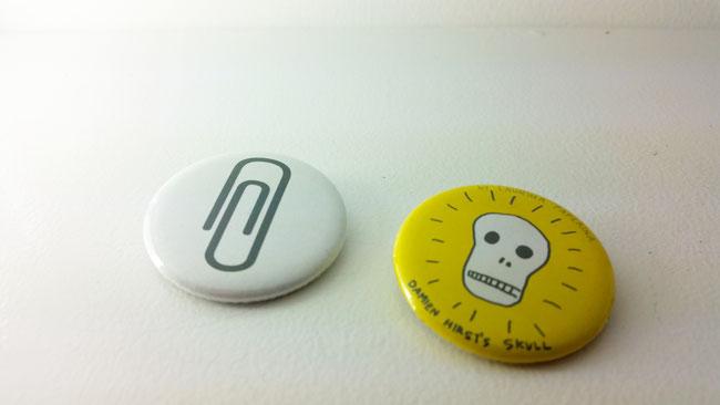 Damien Hirst Skull buttons @polyklamott Vending Shop