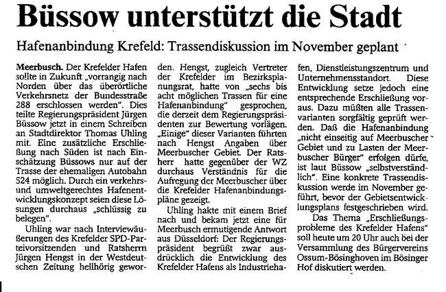 Quelle: Westdeutsche Zeitung vom 11.09.1997