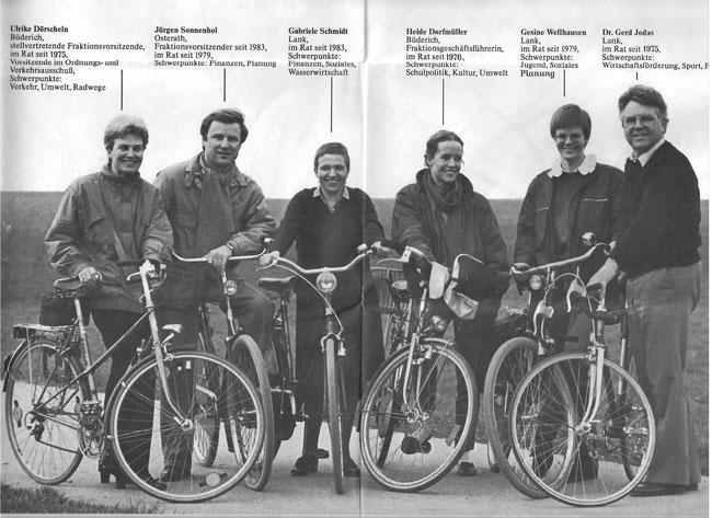 Liberale Aktivisten pro Fahrrad in den 90er Jahren