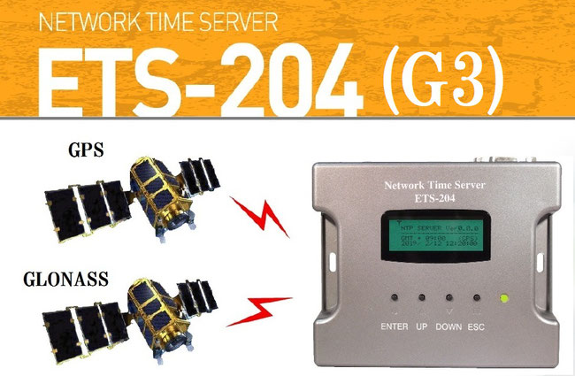 GPS/GLONASS/電波時計受信対応 小型NTPサーバー ETS-204(G3)