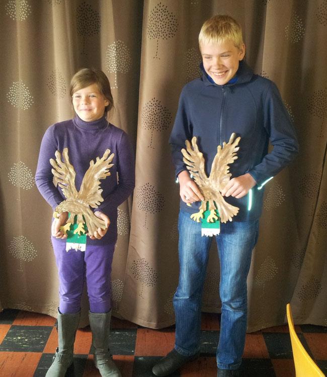 Ein Bild des Kreisjugendkönigspaares 2012: Pauline Grödel und David Busch