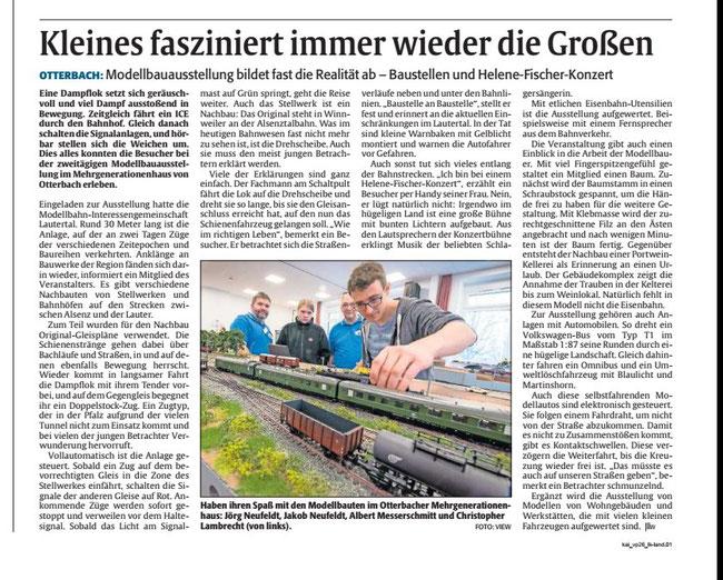 """Quelle: """"Die Rheinpfalz"""" vom 11.12.2017 Ausgabe KL"""