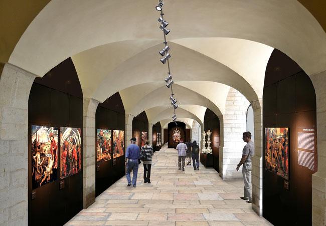 Simulation d'une salle du musée. Temple de Paris