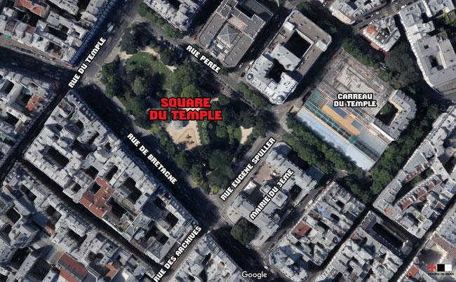 Le square du Temple, une empreinte mémorielle dans l'Histoire du quartier.