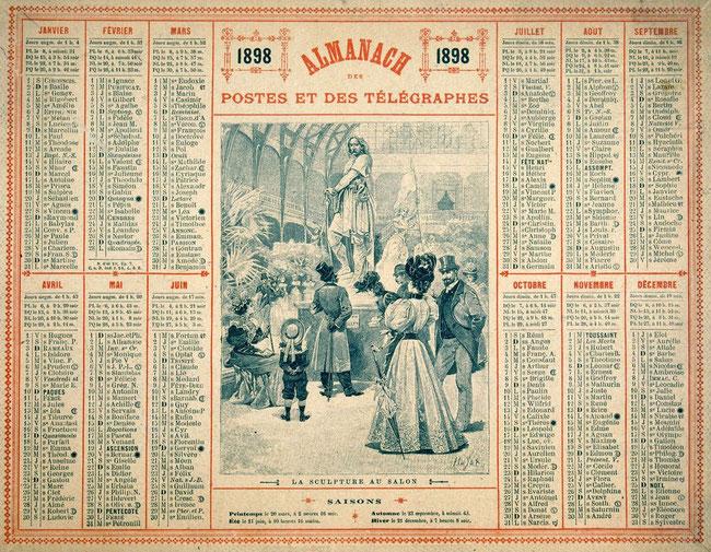 Almanach des Postes et des Télégraphes 1898. Temple de Paris