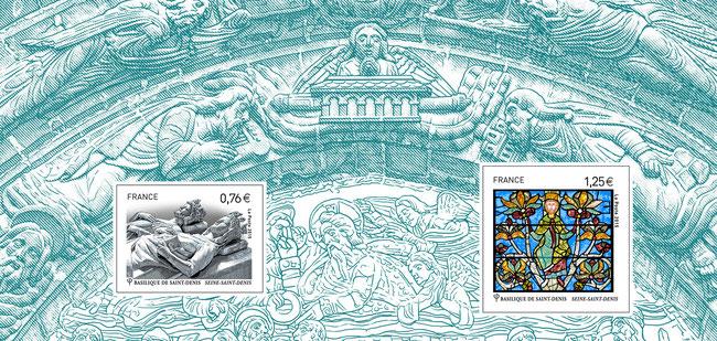 Souvenir Basilique Cathédrale de Saint-Denis. Prix de vente : 6,20 €  - 42 000 exemplaires