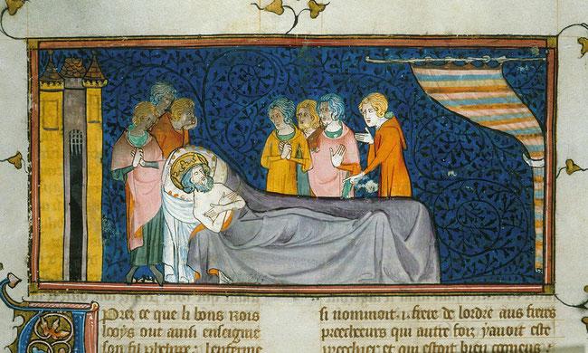 Saint Louis sur son lit de mort.