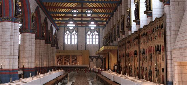 Vue de la Grand Salle en 1378 © Histovery - CMN