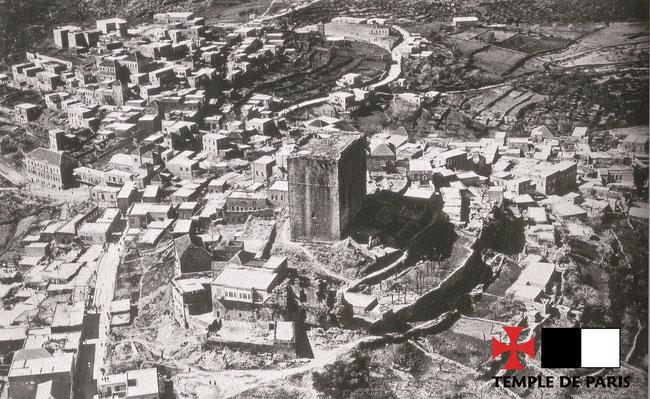 Vue aérienne de 1936. Photographie de l'armée française du Levant. Temple de Paris