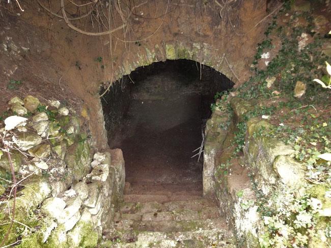 Entrée de la cave de la maison de Fourches