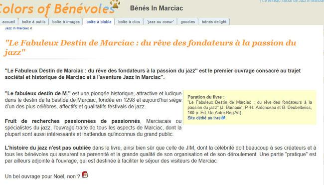 """Les Bénévoles de Jazz in Marciac et """"Le fabuleux destin de Marciac"""""""