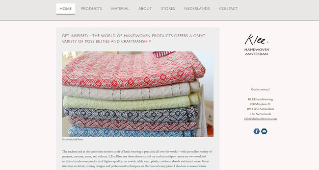 have a look at the English website handwoven klee