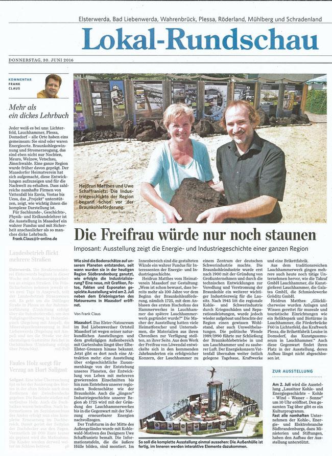 Lausitzer Rundschau am 30.06.2016