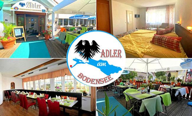 Restaurant und Hotelbereiche vom Adler am Bodensee