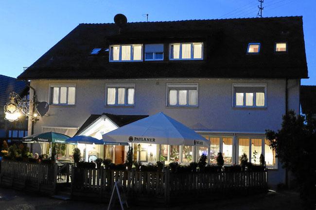 Der Eingangsbereich des Hotels Adler