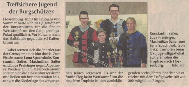 Treffsichere Jugend der Burgschützen Flossenbürg