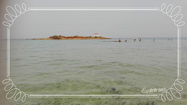 Die kleine Insel vor Malia
