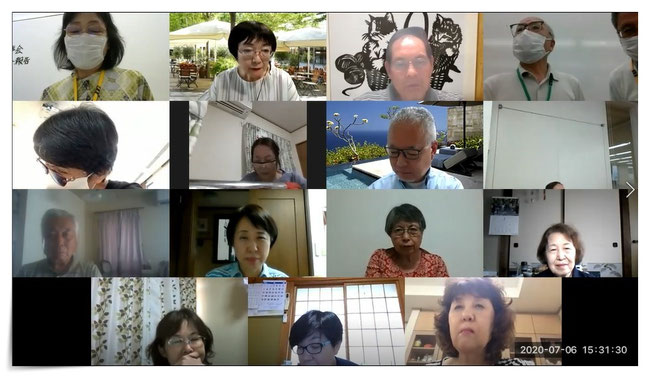 (zoomでの出席者画面)