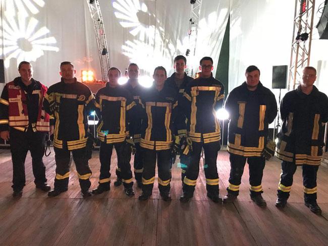 Von links: Christian Schigowski, Thorben Schneemann, Dennis Kruse, Jochen Schneider, Hendrik Blotenberg, Bastian Beckmann, Luis Nachtway, Jan Kiesewetter, Leonard Rutzki
