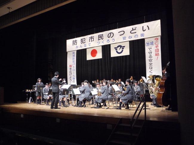 藤ヶ岡中学校吹奏楽部による演奏