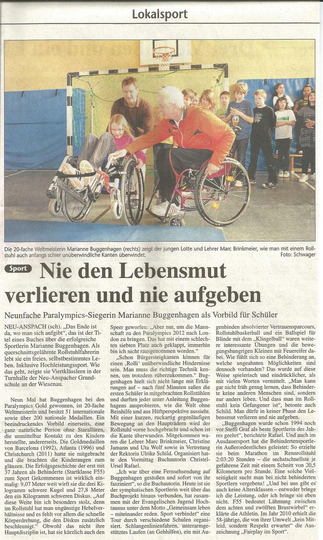 Usinger Anzeiger vom 24.3.2011
